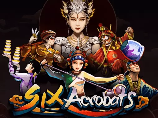 Six Acrobat Online Slot Symbols