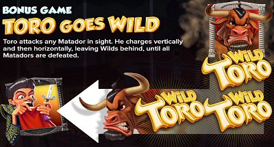Wild Toro Slot Feature Toro Goes Wild
