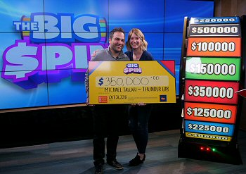 Big Spin Lottery Ticket pays Big $350k Win for Thunder Bay Family