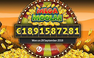 Microgaming Network Jackpots & Mega Moolah Progressive made 9 Millionaires in 2018m, including New World Record Winner