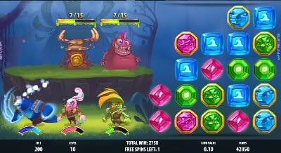 Wild Worlds Super Hero Slots Fight