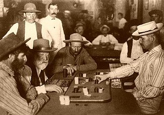 Classic casino game of Faro being played in 1895