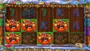 tiki Vikings Slot by Just for the Win at Microgaming online casinos