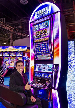 James Holzhauer helps make IGT's Jeopardy Slot Machine a Huge Hit in Vegas