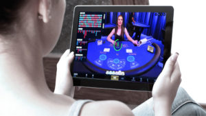 Playing Casino Games on Tablet